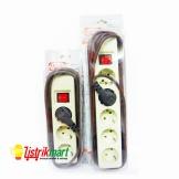 merito stopkontak saklar on off 3 4 lubang 4 5meter listrikmart alat listrik